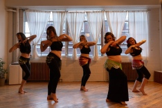 Greenstone Belly Dance Improver students performing an emotive choreography to the Egyptian classic, Lissa Fakir by Oum Khalthoum.
