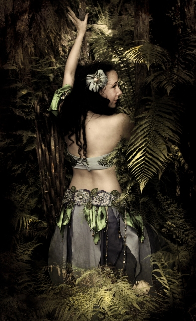 Oriental dancer, Siobhan, of the Netherlands photographed in Auckland, New Zealand.