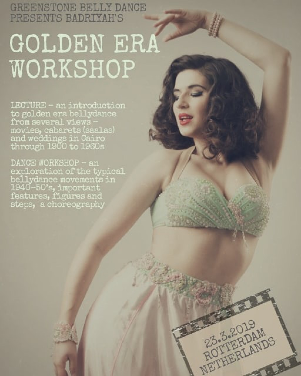 Learn about Golden Era Belly Dance in Rotterdam with Badriyah, hosted by Greenstone Belly Dance