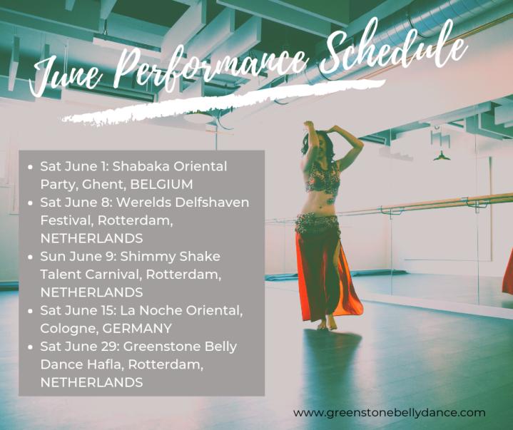 June Performance Schedule