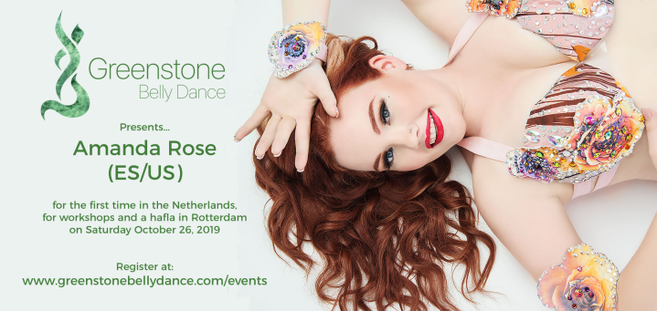 Amanda Rose hosted by Greenstone Belly Dance in the Netherlands, October 2019.